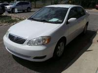 2008 Toyota Corolla LE four door Sedan 5M For
