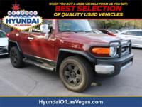 Clean CARFAX. Brick 2008 Toyota FJ Cruiser 4WD 5-Speed