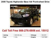 2008 Toyota Highlander Base 4dr Front-wheel Drive SUV 4