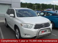 CARFAX One-Owner. Blizzard Pearl 2008 Toyota Highlander