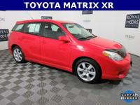 One Owner Matrix XR!, 5D Hatchback, 4-Speed Automatic