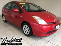 Recent Arrival! 2008 Toyota Prius in Red, SMART KEY