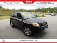 New Price! 2008 Toyota RAV4 in Black. Beige Cloth.