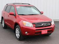 Options:  2008 Toyota Rav4 Limited|Red|Full Exterior &