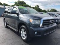 Clean CARFAX. Gray 2008 Toyota Sequoia SR5 5.7L 4WD