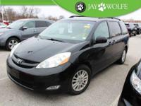 Clean CARFAX. 2008 Toyota Sienna XLE in Black with