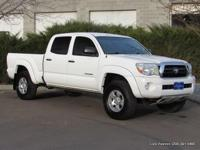 2008 Tacoma V6 SR5 double cab 4x4 in white with beige