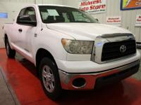 THIS USED 2008 TOYOTA TUNDRA SUPER WHITE DOUBLE CAB 4WD