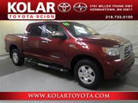 Tundra Limited CrewMax, 4WD, Leather, Clean Auto Check
