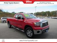 2008 Toyota Tundra in Red. 4D Double Cab, i-Force 5.7L