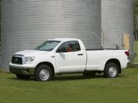 Clean CARFAX. White 2008 Toyota Tundra 4WD 6-Speed