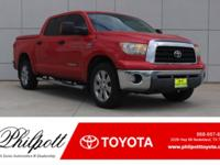 This 2008 Toyota Tundra 4WD Truck SR5 comes complete