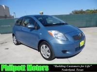 Options Included: N/A2008 Toyota Yaris Hatchback, blue