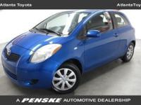 This Yaris Coupe HB has a Bayou Blue Pearl outside and
