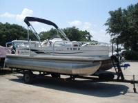 2008 Tracker Fishing Barge, 60 HP Bigfoot Four Stroke,