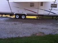34 foot .. 2 Slide outs .. Has 2 bedrooms .. Has a