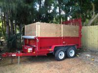 2008 Trailer with Electric Lift great for work. Brand