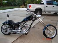 Beautiful factory custom chopper with only 385 miles. 1