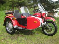 2008 750 cc Ural Traveler motorbike. Motorbike has only