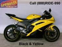 2008 Used Yamaha R-6 Sport Bike - For sale with factory