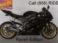 2008 used Yamaha R6 Raven Edition crotch rocket for