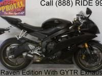 2008 Used Yamaha R6 Raven Edition Sport Bike For