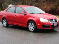 2008 Volkswagen Jetta 2.0L S Salsa Red, Keyless Entry,