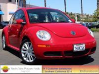 Clean CARFAX. Salsa Red 2008 Volkswagen Beetle S Black