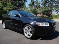 This 2008 Volvo S40 2.4i double black sedan is in