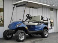 This 2008 Yamaha Drive custom street-ready gas golf car