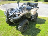 For sale is a 2008 Yamaha Grizzly 700 EFI with push