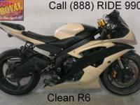 2008 Yamaha R6 Crotch Rocket For Sale-U1917 only $5999!