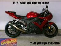 2008 Yamaha Used R6 Sport Bike - For sale with only