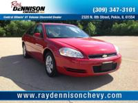 Red 2008 Chevrolet Impala LS FWD 4-Speed Automatic with