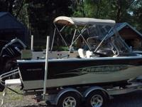 One owner 2008 Crestliner 1950 Sportfish with 175 HP