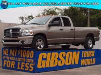 WWW.GIBSONTRUCKWORLD.COM 2008 Dodge Ram 2500 SLT Big