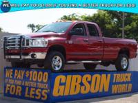 WWW.GIBSONTRUCKWORLD.COM 2008 Dodge Ram 3500 SLT Big