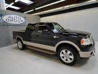 2008 FORD F150 SUPER CREW KING RANCH 4WD:BLACK/TAN You