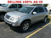 This Acadia is being sold as-is. It has a check engine