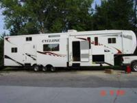 2008 Heartland Cyclone This toy hauler is self