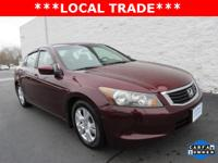 1-Owner, new Honda trade in Accord LX-P sedan with auto