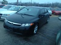 2008 Honda civic ex, 4 door sedan, shiny black finish