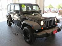 Options:  2008 Jeep Wrangler Unlimited X|Black|**Carfax