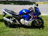 This is a 2008 Suzuki GSX-650F, it only has 1335 miles.