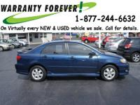 2008 Toyota Corolla 4 Dr Sedan S Our Location is: Roper