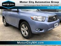 This is one great Toyota Highlander.  All Wheel Drive,