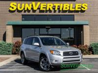 This is a 2008 Toyota RAV4 Sport with Bluetooth,