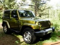 This is a 2008 two door Jeep Wrangler Sahara. The Jeep