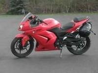 Selling my 2009 250 red Kawasaki Ninja. Excellent