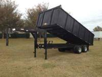 Stock # LY1601 8x20 gooseneck dump trailer 10T. 2009